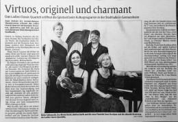 Ladies Classic QUARRTET -  - virtuos - originell - charmant